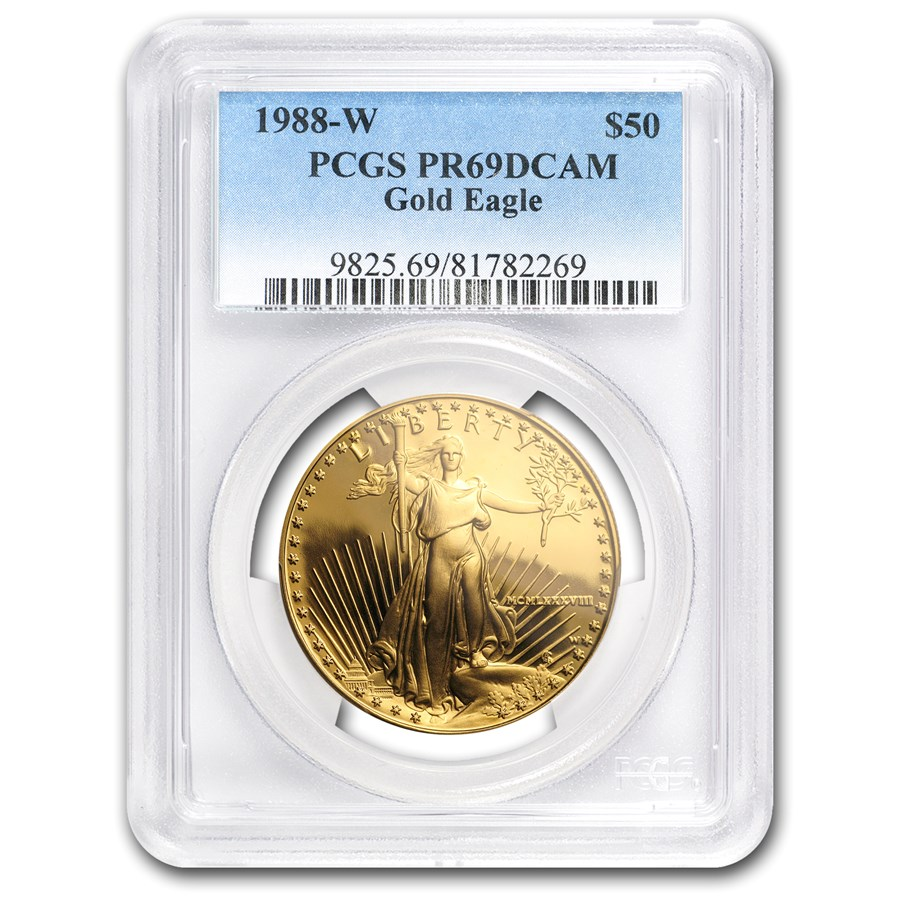 1988-W 1 oz Proof American Gold Eagle PR-69 DCAM PCGS