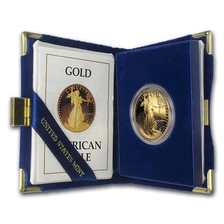 1988-W 1 oz Proof American Gold Eagle (w/Box & COA)