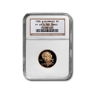 1988-W Gold $5 Commem Olympic PF-69 NGC