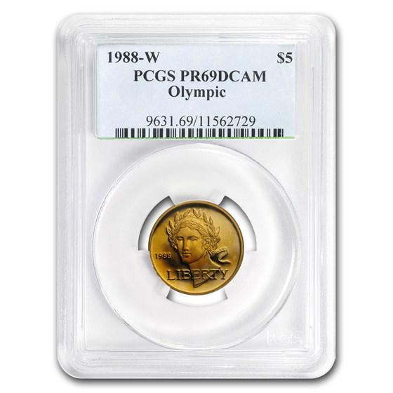 1988-W Gold $5 Commem Olympic PR-69 PCGS