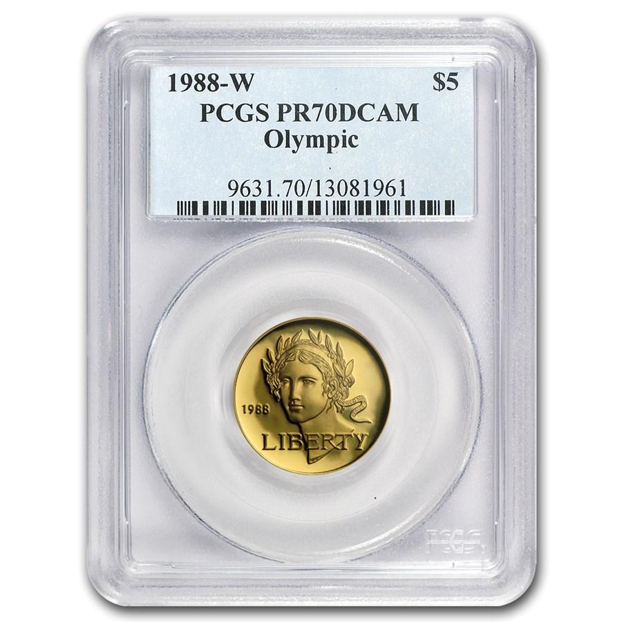 1988-W Gold $5 Commem Olympic PR-70 PCGS