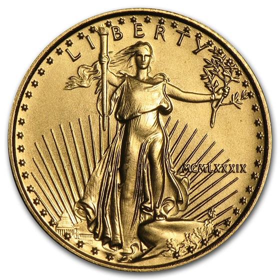 1989 1/10 oz American Gold Eagle BU (MCMLXXXIX)