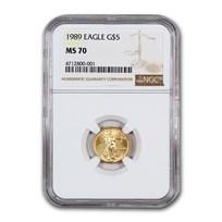 1989 1/10 oz American Gold Eagle MS-70 NGC