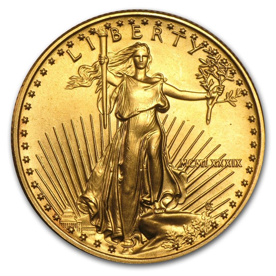 1989 1/2 oz American Gold Eagle BU (MCMLXXXIX)