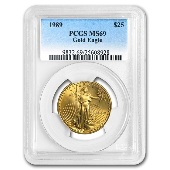 1989 1/2 oz American Gold Eagle MS-69 PCGS