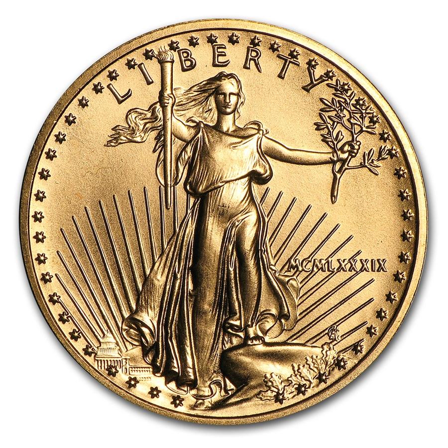 1989 1/4 oz American Gold Eagle BU (MCMLXXXIX)