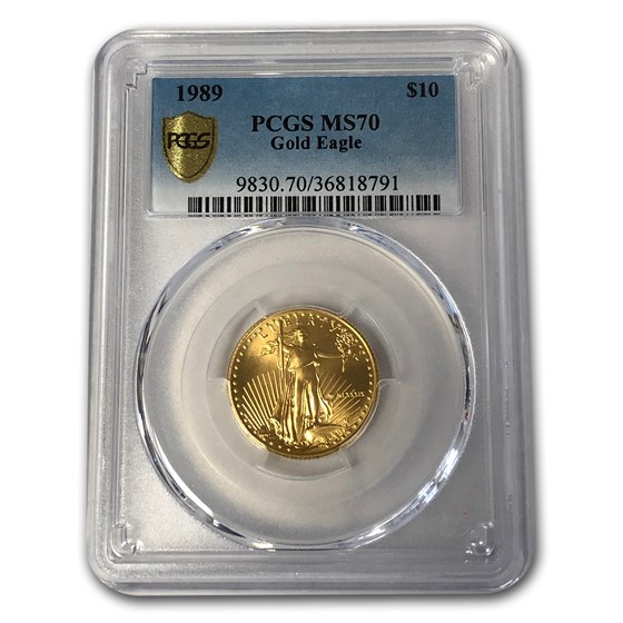 1989 1/4 oz Gold American Eagle MS-70 PCGS