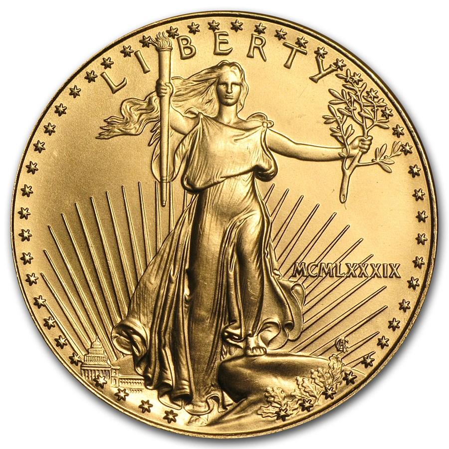 1989 1 oz American Gold Eagle BU (MCMLXXXIX)