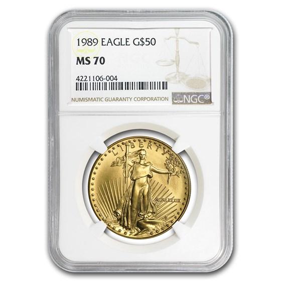 1989 1 oz American Gold Eagle MS-70 NGC
