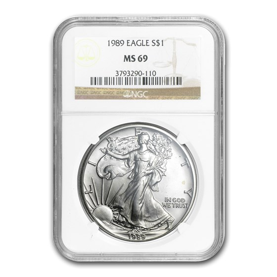 1989 American Silver Eagle MS-69 NGC