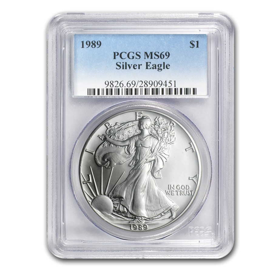 1989 American Silver Eagle MS-69 PCGS