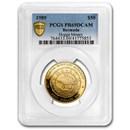1989 Bermuda Gold $50 Hogge Money PR-69 PCGS