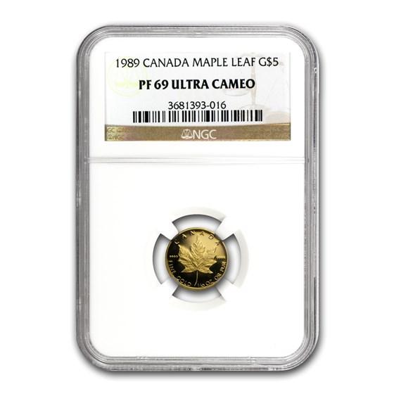 1989 Canada 1/10 oz Proof Gold Maple Leaf PF-69 NGC