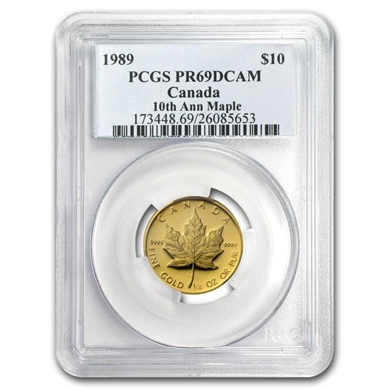 1989 Canada 1/4 oz Proof Gold Maple Leaf PR-69 PCGS