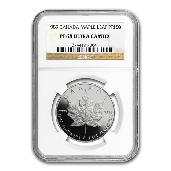 1989 Canada 1 oz Proof Platinum Maple Leaf PF-68 NGC