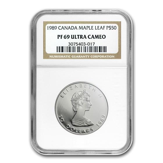 1989 Canada 1 oz Proof Platinum Maple Leaf PF-69 NGC