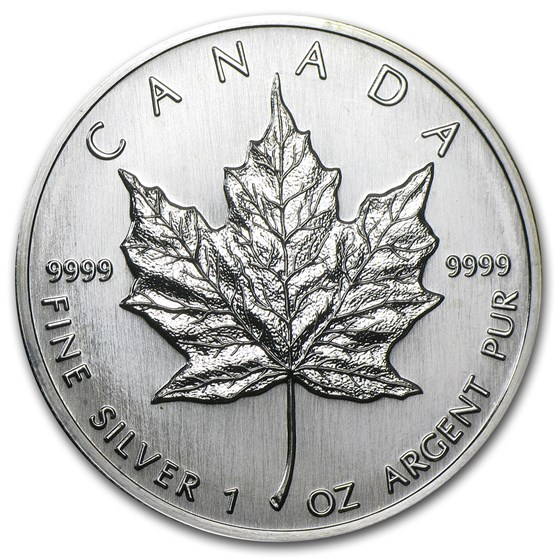 1989 Canada 1 oz Silver Maple Leaf BU