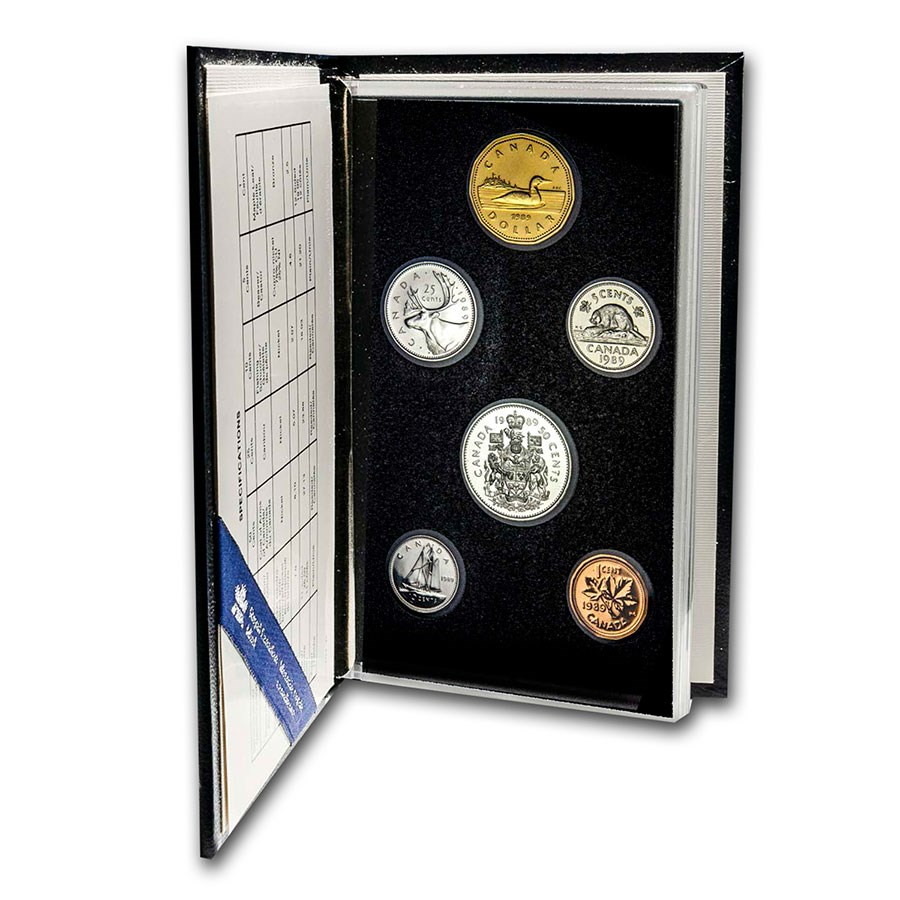 1989 Canada 6-Coin Specimen Set (COA, without outer box)