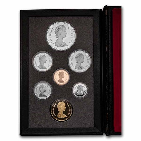 1989 Canada 7-Coin Double Dollar Proof Set