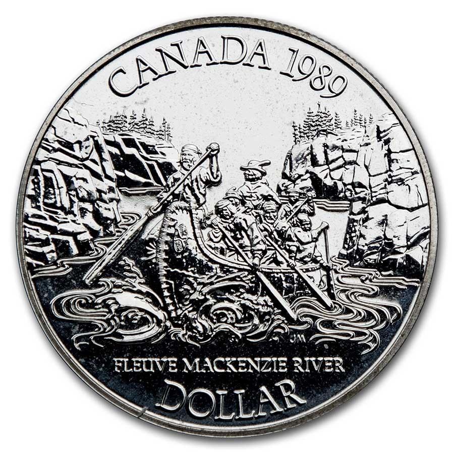 1989 Canada Silver Dollar BU (Mackenzie River)