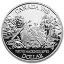 1989 Canada Silver Dollar Proof (Mackenzie River w/OGP)