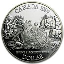1989 Canada Silver Dollar Proof (Mackenzie River)