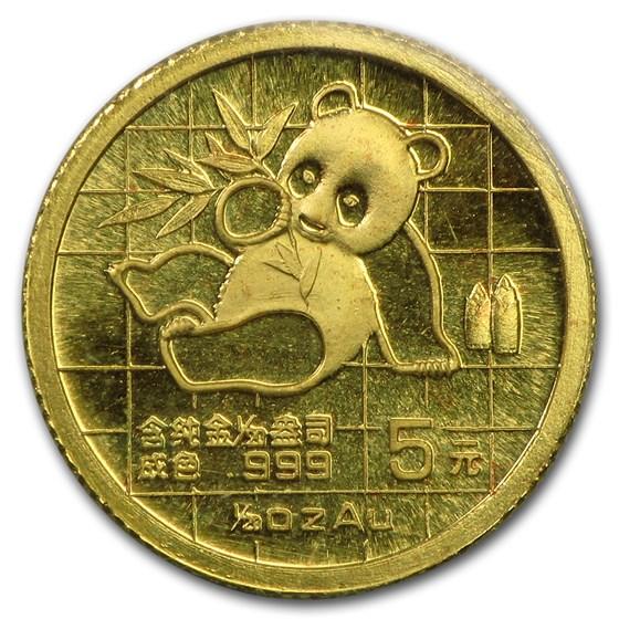 1989 China 1/20 oz Gold Panda Small Date BU (Sealed)