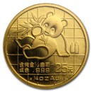 1989 China 1/4 oz Gold Panda Small Date BU (Sealed)