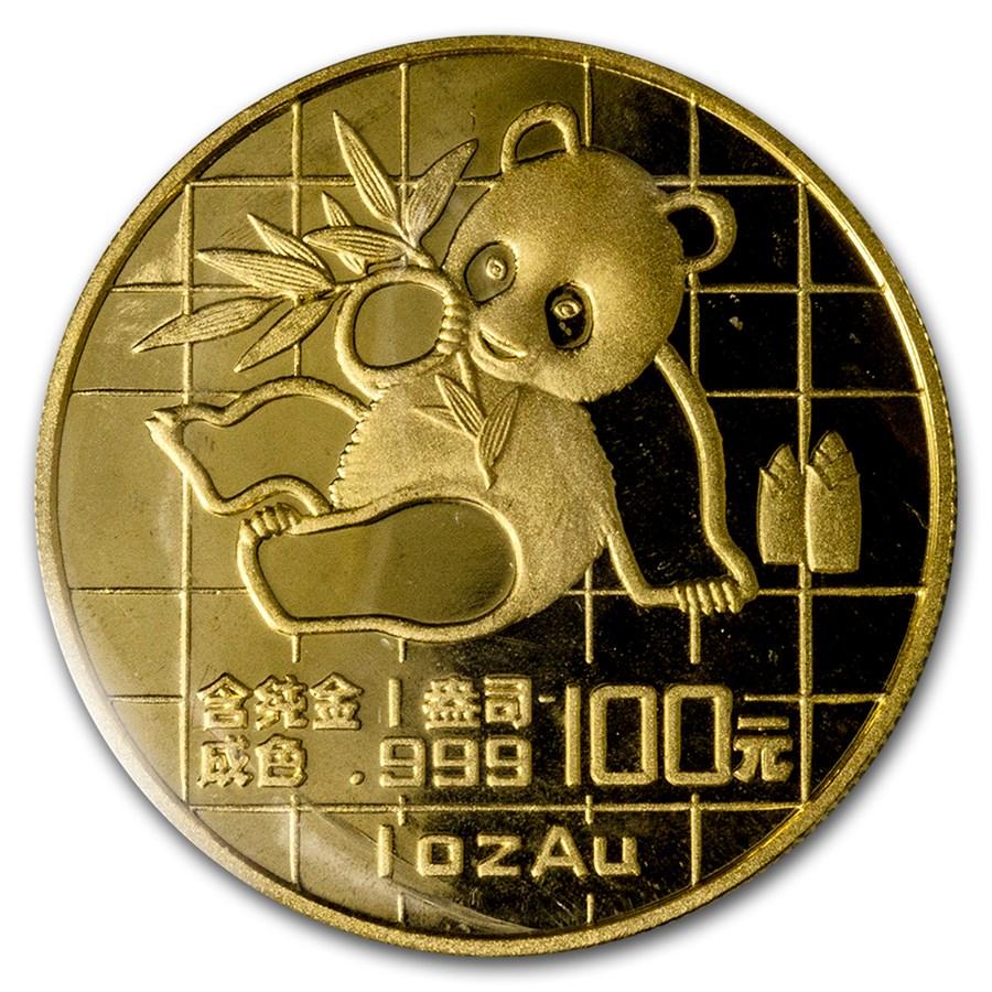 1989 China 1 oz Gold Panda Large Date BU (Sealed)