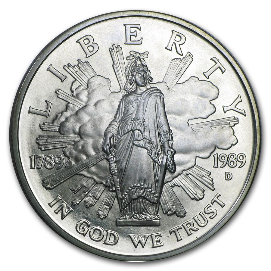 1989-D Congressional $1 Silver Commem BU (Capsule Only)