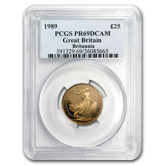 1989 Great Britain 1/4 oz Proof Gold Britannia PR-69 PCGS