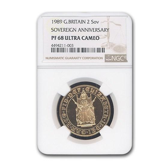 1989 Great Britain Gold £2 500th Anniv PF-68 NGC