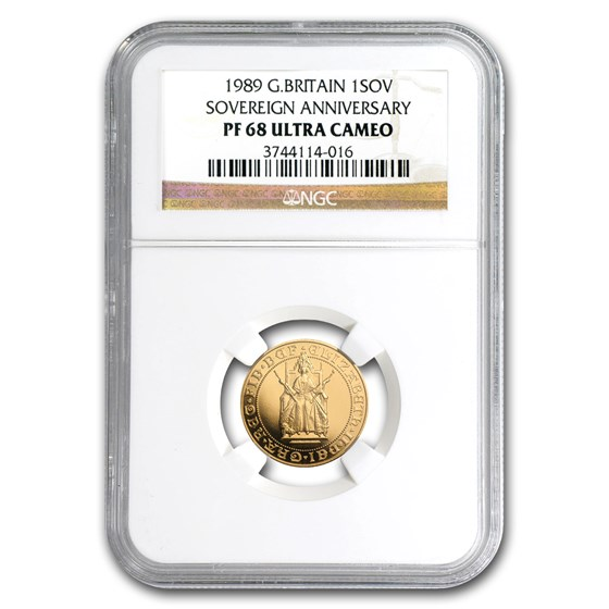 1989 Great Britain Gold Sovereign 500th Anniv PF-68 NGC