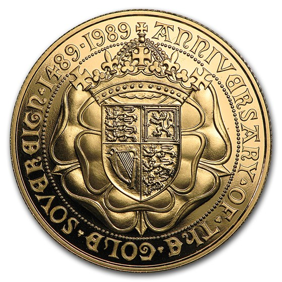 1989 Great Britain Gold Sovereign Proof (500th Anniv)