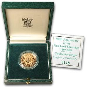 1989 Great Britain Proof Gold £2 (Box & COA)
