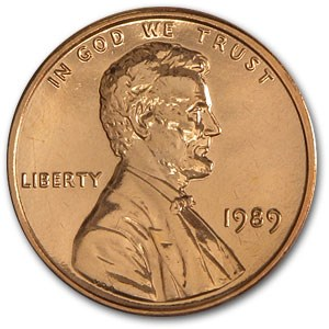 1989 Lincoln Cent BU (Red)