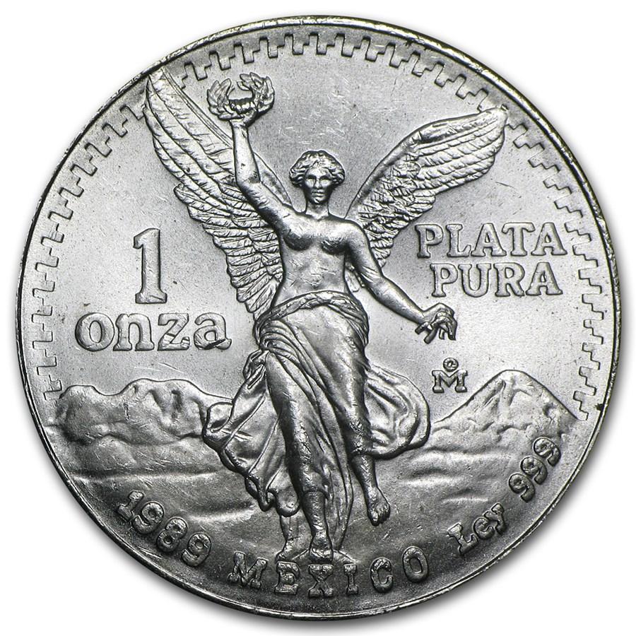 1989 Mexico 1 oz Silver Libertad BU