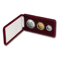 1989 Mexico - Rainbow Proof Libertad Set (Platinum, Silver, Gold)