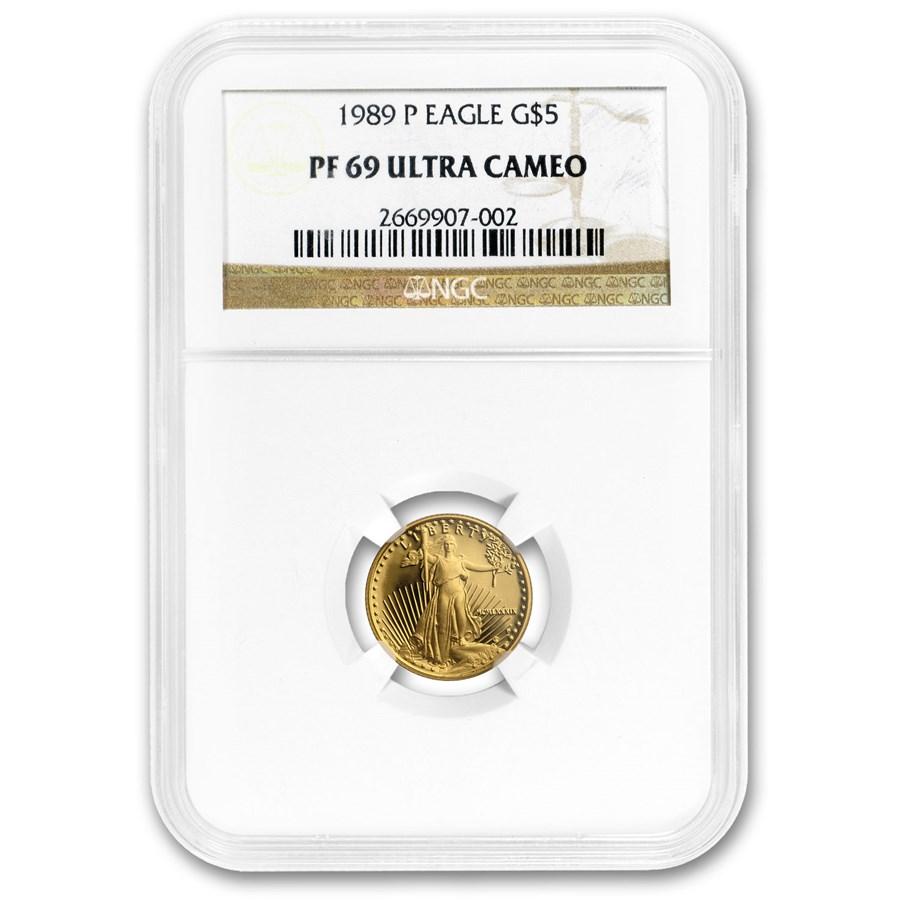1989-P 1/10 oz Proof American Gold Eagle PF-69 UCAM NGC