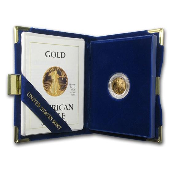 1989-P 1/10 oz Proof American Gold Eagle (w/Box & COA)