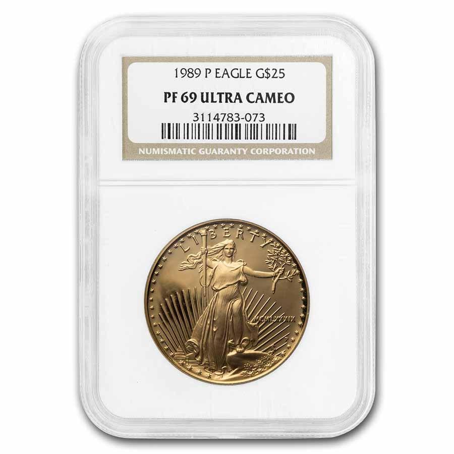 1989-P 1/2 oz Proof American Gold Eagle PF-69 UCAM NGC