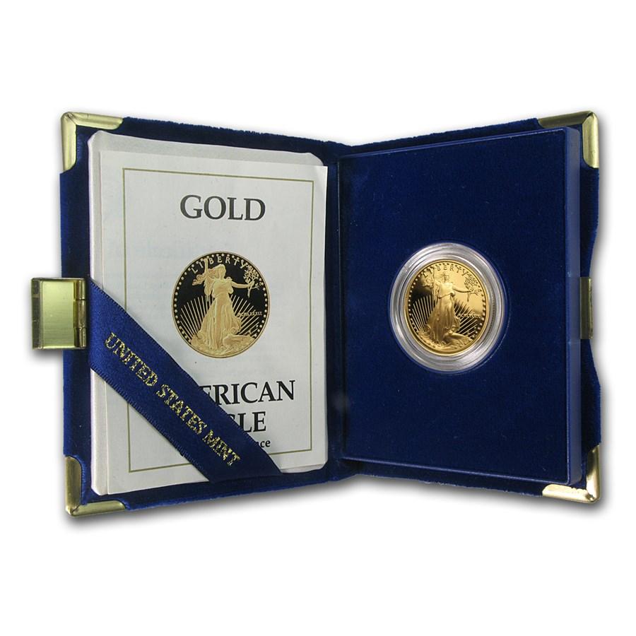 1989-P 1/2 oz Proof American Gold Eagle (w/Box & COA)