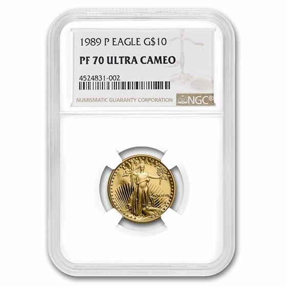 1989-P 1/4 oz Proof American Gold Eagle PF-70 UCAM NGC