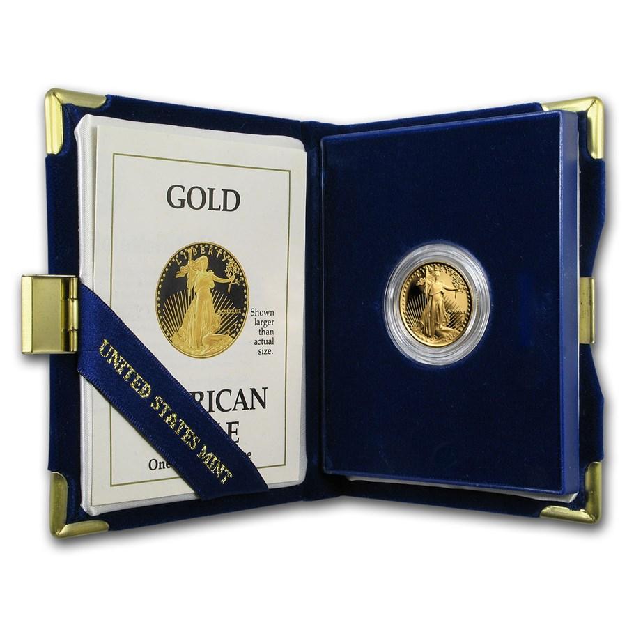 1989-P 1/4 oz Proof American Gold Eagle (w/Box & COA)