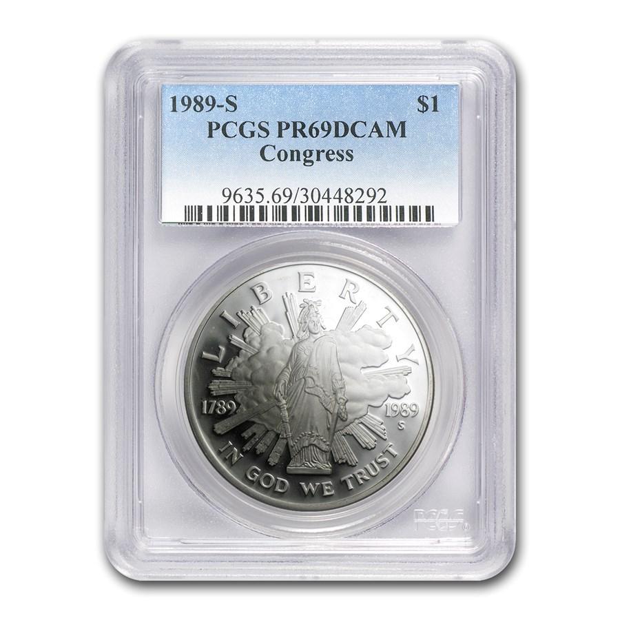 1989-S Congressional $1 Silver Commem PR-69 PCGS