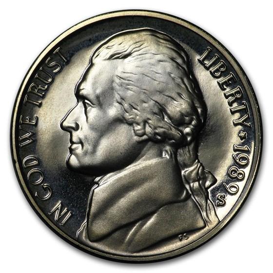 1989-S Jefferson Nickel Gem Proof