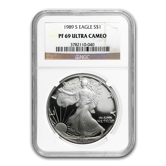 1989-S Proof American Silver Eagle PF-69 NGC