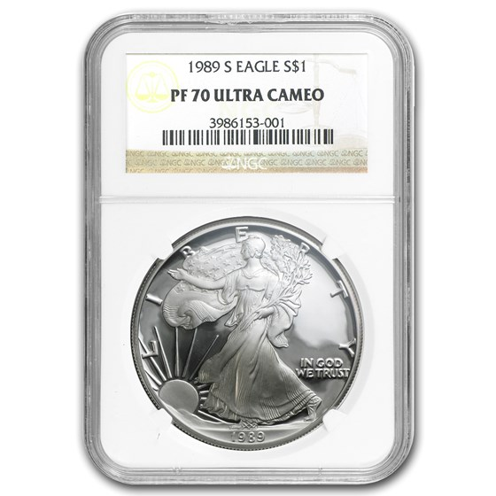1989-S Proof American Silver Eagle PF-70 NGC