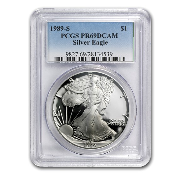 1989-S Proof American Silver Eagle PR-69 PCGS