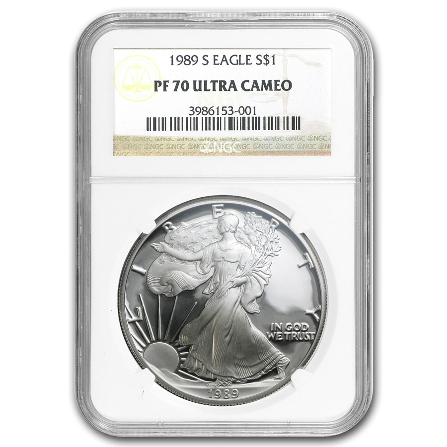 1989-S Proof Silver American Eagle PF-70 NGC